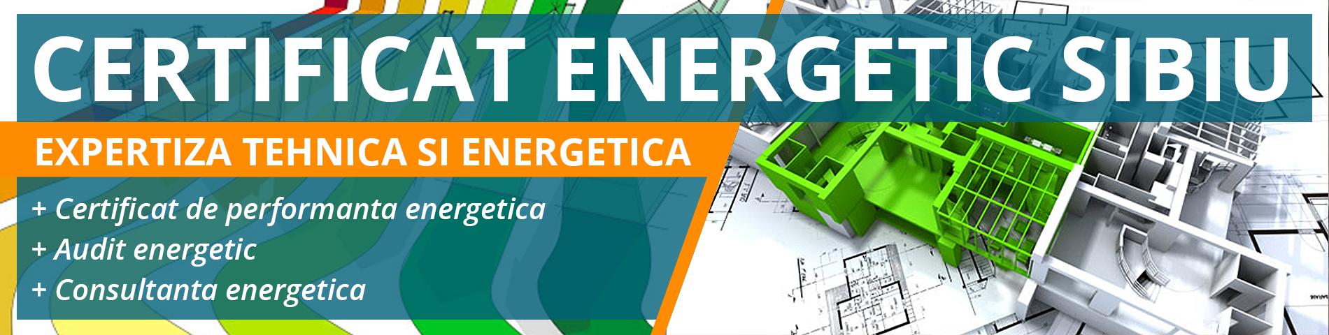 Certificat de Performanta Energetica Sibiu